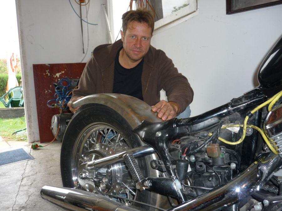 I Continue Building My 600 D F Honda Shadow Vt Steed